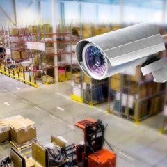 Установка камер видеонаблюдения на склад