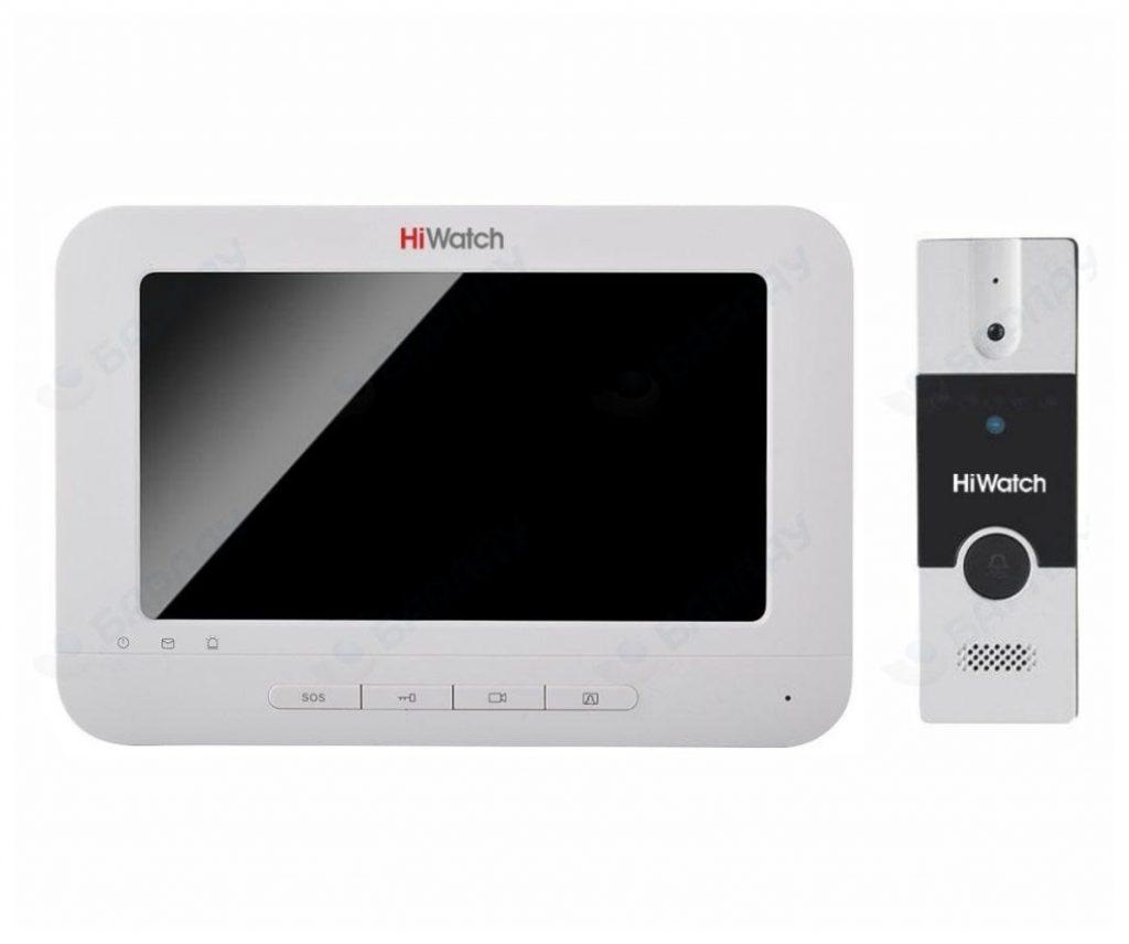 Комплект аудио-видео домофона DS-D100KF