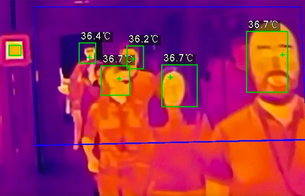 Камеры видеонаблюдения с тепловизором для замера температуры